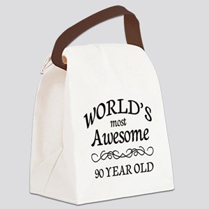 Most Awesome 90 Year Old Canvas Lunch Bag