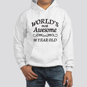 Awesome 90 Year Old Hooded Sweatshirt