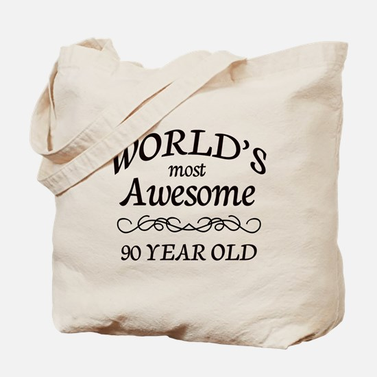 Awesome 90 Year Old Tote Bag