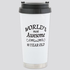 Awesome 90 Year Old Stainless Steel Travel Mug