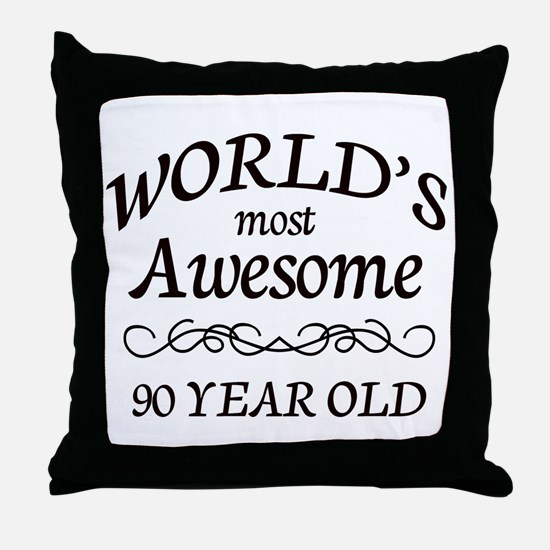 Awesome 90 Year Old Throw Pillow
