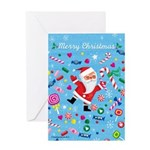 Merry Christmas Candy Greeting Card