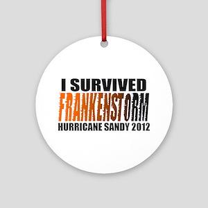 Frankenstorm Hurricane Sandy 2012 Ornament (Round)