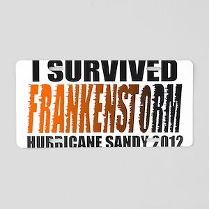 Frankenstorm Hurricane Sandy 2012 Aluminum License