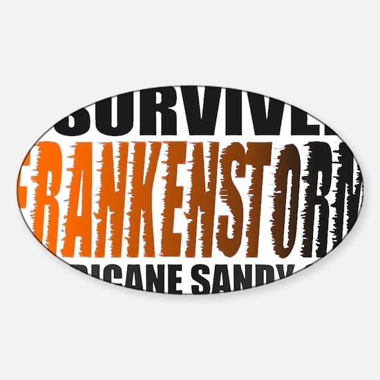 Frankenstorm Hurricane Sandy 2012 Sticker (Oval)
