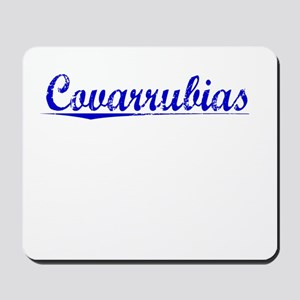Covarrubias, Blue, Aged Mousepad