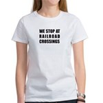 RR Crossing Sign Women's T-Shirt
