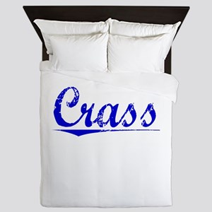 Crass, Blue, Aged Queen Duvet