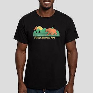 Glacier National Park Men's Fitted T-Shirt (dark)