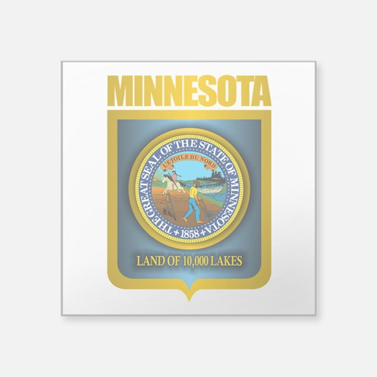 "Minnesota Gold Label Square Sticker 3"" x 3"""
