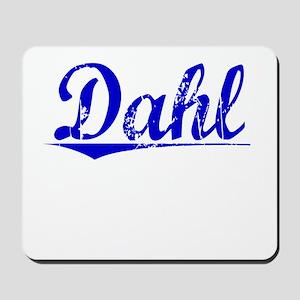 Dahl, Blue, Aged Mousepad