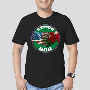 Wales USA Friendship (in Welsh) Men's Fitted T-Shi