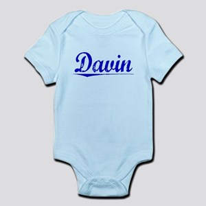 Davin, Blue, Aged Infant Bodysuit