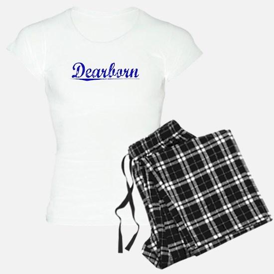 Dearborn, Blue, Aged Pajamas