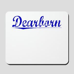 Dearborn, Blue, Aged Mousepad