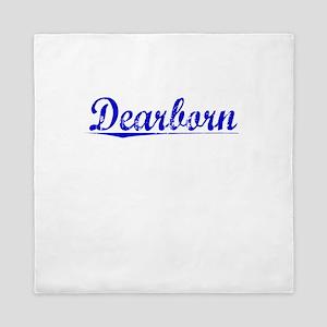 Dearborn, Blue, Aged Queen Duvet