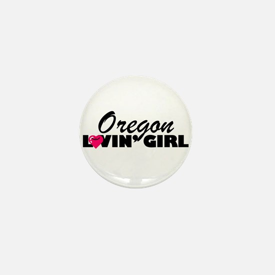 Oregon Loving girl Mini Button
