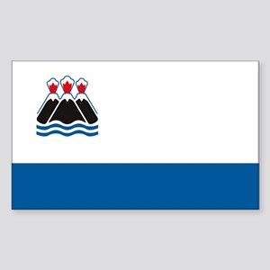 Kamchatka Flag Rectangle Sticker