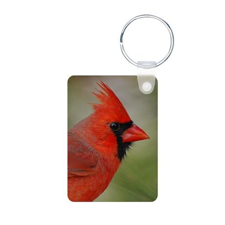 Male Cardinal Aluminum Photo Keychain