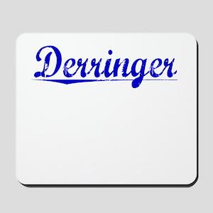 Derringer, Blue, Aged Mousepad
