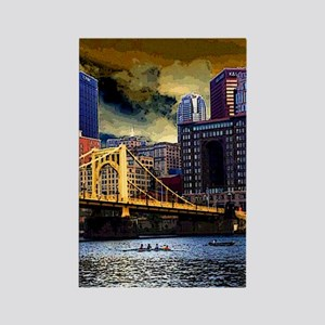 Downtown Pittsburgh River View Rectangle Magnet