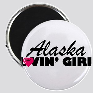 Alaska Loving girl Magnet