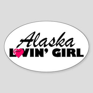 Alaska Loving girl Oval Sticker