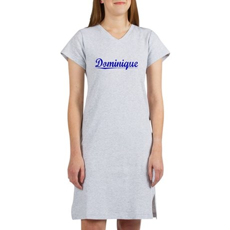 Dominique, Blue, Aged Women's Nightshirt