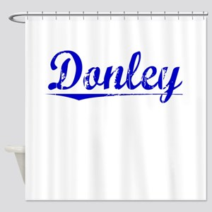 Donley, Blue, Aged Shower Curtain