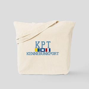 Kennebunkport ME - Varsity Design. Tote Bag