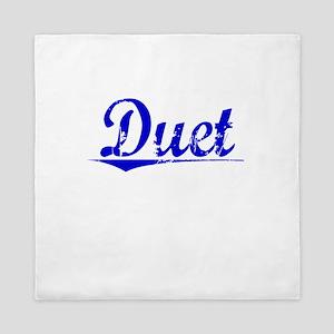 Duet, Blue, Aged Queen Duvet
