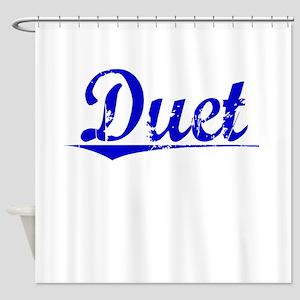 Duet, Blue, Aged Shower Curtain