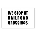 RR Crossing Sign Rectangle Sticker