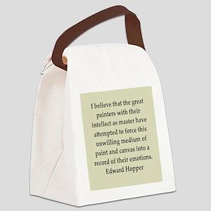 hopper2 Canvas Lunch Bag