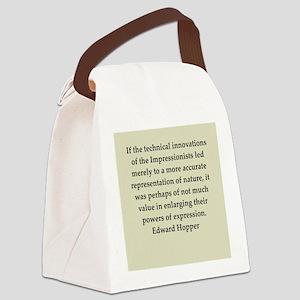 hopper4 Canvas Lunch Bag