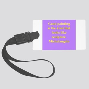 michelangelo7 Large Luggage Tag