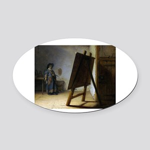 rembrant9 Oval Car Magnet