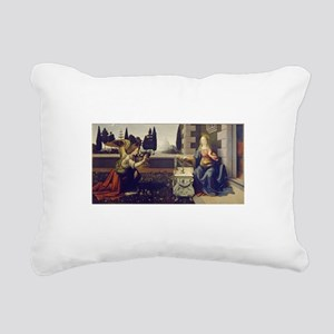 leonardo da vinci Rectangular Canvas Pillow