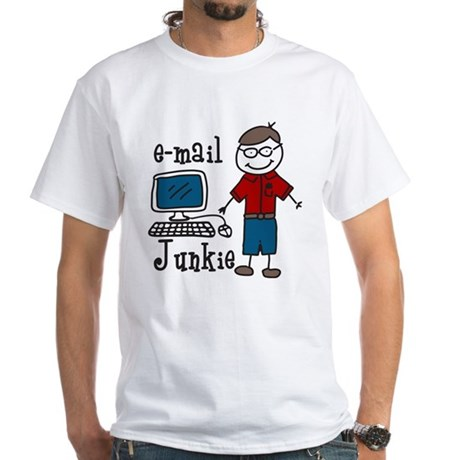 E-Mail Junkie White T-Shirt