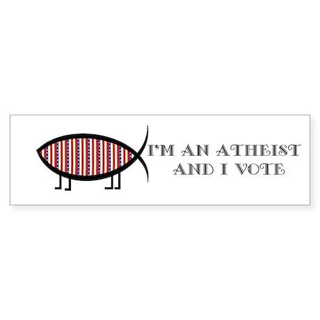 Atheist Voter Bumper Sticker