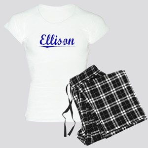 Ellison, Blue, Aged Women's Light Pajamas