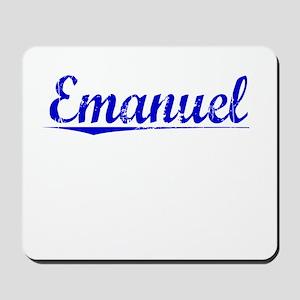 Emanuel, Blue, Aged Mousepad