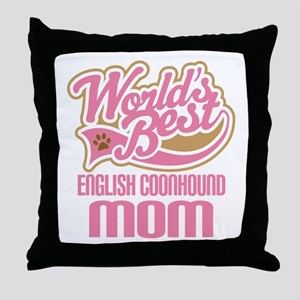 English Coonhound Mom Throw Pillow
