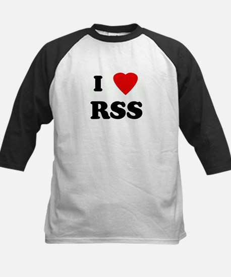 I Love RSS Kids Baseball Jersey