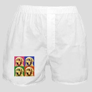 Golden Retriever Pop Art Boxer Shorts
