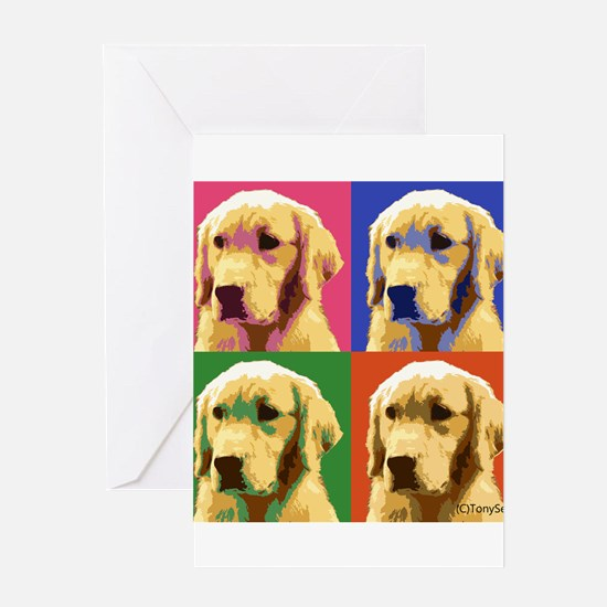 Golden Retriever Pop Art Greeting Card