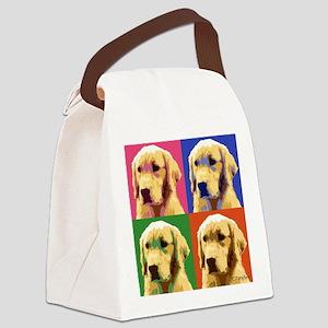 Golden Retriever Pop Art Canvas Lunch Bag