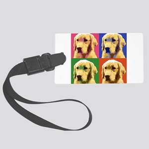 Golden Retriever Pop Art Large Luggage Tag