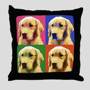 Golden Retriever Pop Art Throw Pillow