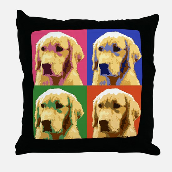 Golden Retriever Pop Art Throw Pillow